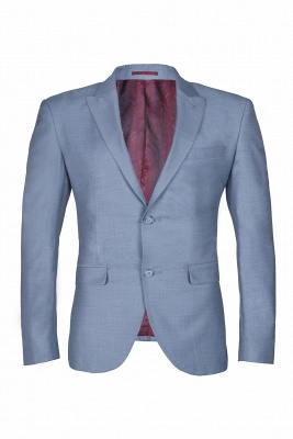 High Quality Sky Blue Two Button Single Breasted Slim Fit Wedding Suit_1
