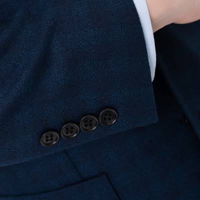 Lattice Two Button Peak Lapel Two Pieces with Pants Comfortable Groomsmen_6