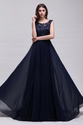 Elegant A-line  Lace Scoop Sleeveless Floor-Length Bridesmaid Dress_3