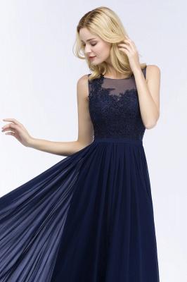 A-line  Appliques Scoop Sleeveless Floor-Length Bridesmaid Dresses_4