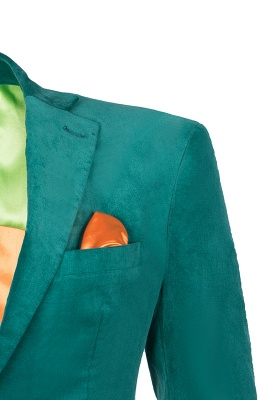 Customize Hot Recommend Single Breasted Peak Lapel Turquoise Groomsmen_4