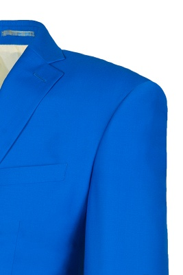 Ocean Blue Casual Suit Peak Lapel Single Breasted Bridegroom_5