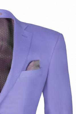Lavender Peak Lapel Hot Recommend Back Vent Two Button Casual Suit_4