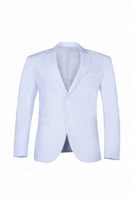 Wedding Prom Suits White Peak Lapel Two Button Single Breasted_1