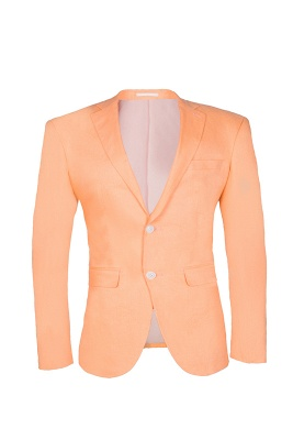 Stylish Design Rose Golden Single Breasted Peak Lapel Wedding Prom Suits_1