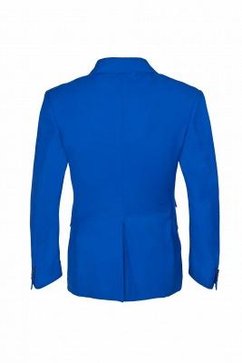Royal Blue Peak Lapel High Quality Fashion Custom Made Wedding Suit_3