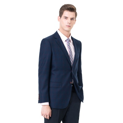 Two-piece Suit Peak Lapel Two Button Single Breasted Slim Fit_2