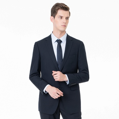 Two-piece Suit Peak Lapel Single Breasted Wedding Suits_4