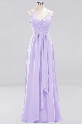 A-line  Spaghetti Straps Sleeveless Ruffles Floor-Length Bridesmaid Dresses_13