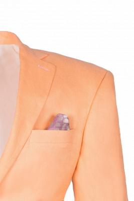 Stylish Design Rose Golden Single Breasted Peak Lapel Wedding Prom Suits_4