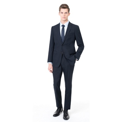 Two-piece Suit Peak Lapel Single Breasted Wedding Suits_1
