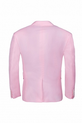 Peak Lapel Candy Pink Single Breasted Wedding Suit For Men_3