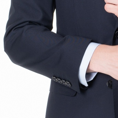 Peak Lapel Two Pieces with Pants Two Button Comfortable Casual Suits_5
