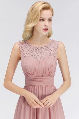 Long Lace Sleeveless Chiffon Scoop Elegant Bridesmaid Dress_3