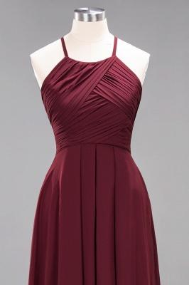 A-Line  Halter Ruffles Floor-Length Bridesmaid Dress_44
