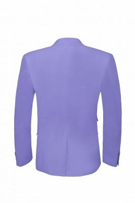 Lavender Peak Lapel Hot Recommend Back Vent Two Button Casual Suit_3