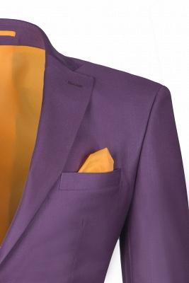 Latest Design Lilac Peak Lapel Single Breasted Wedding Suit Back Vent_4