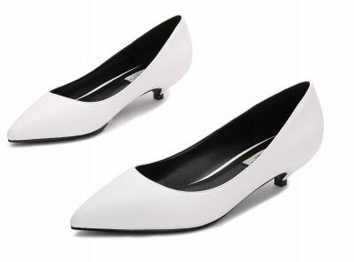 Woman Pointed Toe Kitten Heel Wedding Shoes_8