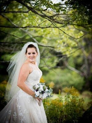 Stunning Spaghetti Straps Court Train Sleeveless Tulle Wedding Dresses_3