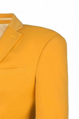 Custom Made Slim Fit Orange Peak Lapel One Button Casual Suit Groomsmen_5
