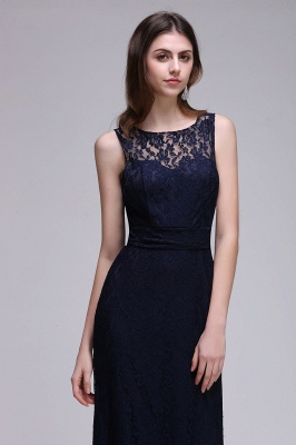 Elegant A-Line Lace Scoop Sleeveless Hollow-Back Floor-Length Bridesmaid Dress_4