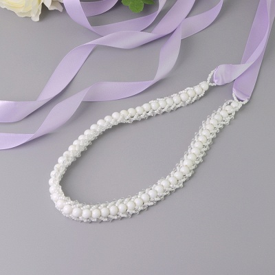 Satin Beadings Wedding Sash with Pearls_6