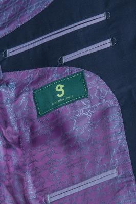 Popular Stylish Design Ink Blue Peak Lapel Two Button Groomsmen_6