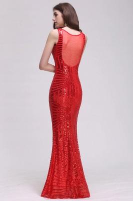 Elegant Mermaid Sequined Jewel Sleeveless Floor-Length Bridesmaid Dress_2