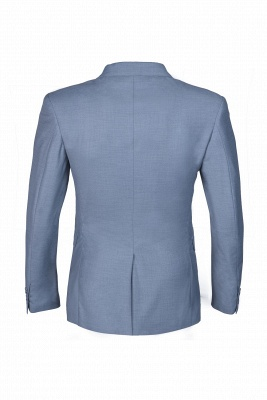 High Quality Sky Blue Two Button Single Breasted Slim Fit Wedding Suit_3