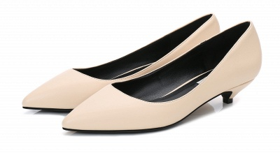 Woman Pointed Toe Kitten Heel Wedding Shoes_3