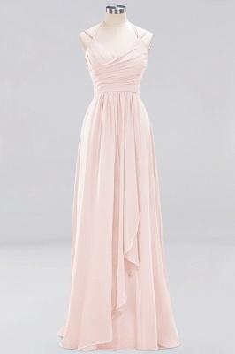 A-line  Spaghetti Straps Sleeveless Ruffles Floor-Length Bridesmaid Dresses_4
