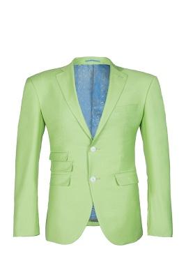 High Quality Sage Two Button Peak Lapel Latest Design Wedding Suit_1