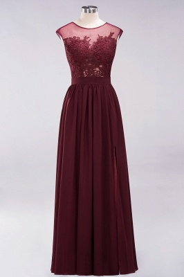 A-line  Lace Jewel Sleeveless Floor-Length Bridesmaid Dresses with Appliques_8