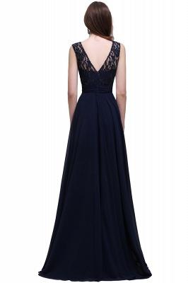 Elegant A-line  Lace Scoop Sleeveless Floor-Length Bridesmaid Dress_2