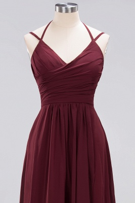 A-line  Spaghetti Straps Sleeveless Ruffles Floor-Length Bridesmaid Dresses_29