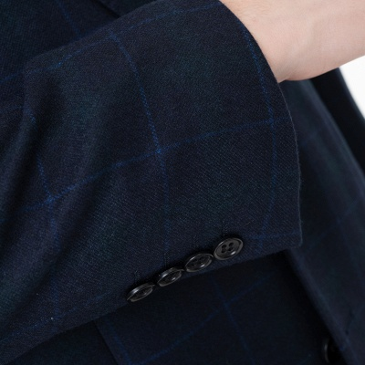 Two-piece Suit Two Button Single Breasted Peak Lapel Fashion Groomsmen_5