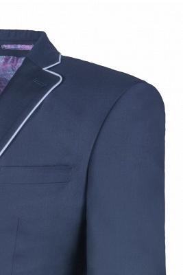 Popular Stylish Design Ink Blue Peak Lapel Two Button Groomsmen_5