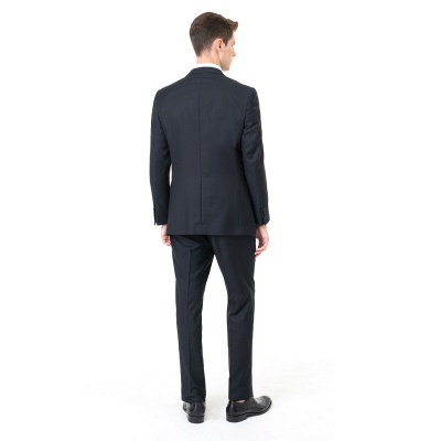 Custom Made Peak Lapel Two Pieces with Pants Casual Suits_2