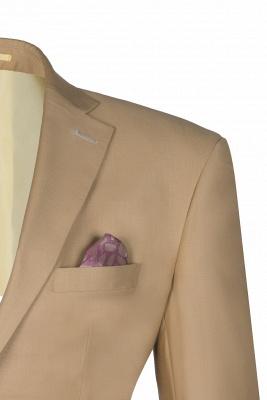 Latest Design Two Button Nude Color Peak Lapel Bridegroom Wedding Suit_3
