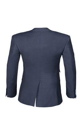 Dark Navy Hot Recommend Popular Peak Lapel Single Breasted Best Men Groomsmen_3