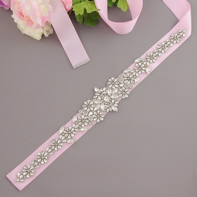 Gorgeous Satin Beadings Wedding Sash_7