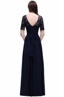 Elegant A-line  Lace Scoop Half-Sleeve Floor-Length Bridesmaid Dress_2