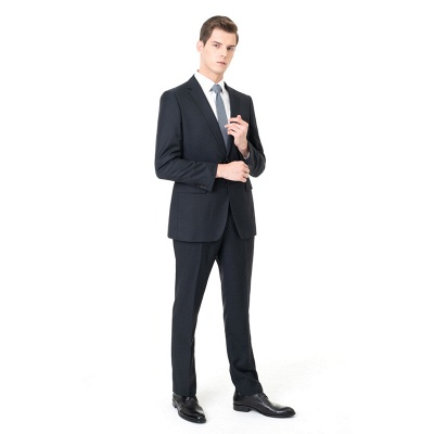 Custom Made Peak Lapel Two Pieces with Pants Casual Suits_3
