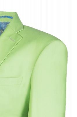 High Quality Sage Two Button Peak Lapel Latest Design Wedding Suit_5