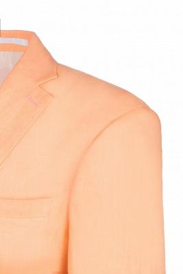 Stylish Design Rose Golden Single Breasted Peak Lapel Wedding Prom Suits_5