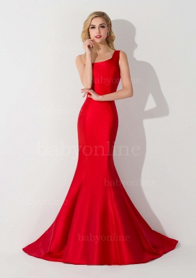 Mermaid Satin One-Shoulder Sleeveless Floor-Length Bridesmaid Dress_6