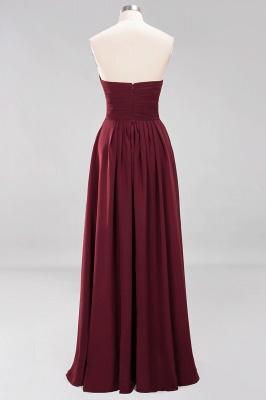 A-line  Sweetheart Strapless Ruffles Floor-length Bridesmaid Dress_10