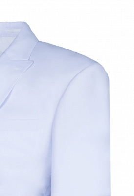 Wedding Prom Suits White Peak Lapel Two Button Single Breasted_4
