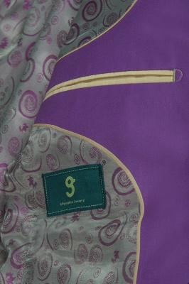 Latest Design High Quality Peak Lapel Single Breasted Two Button Lilac_6