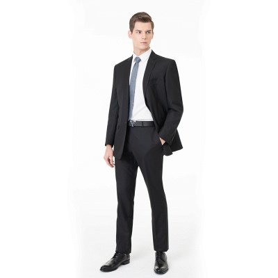 Two Pieces with Pants Single Breasted Peak Lapel Latest Design_1